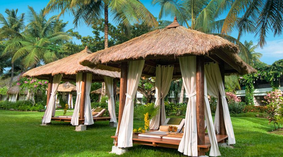 Thatched roof cabanas