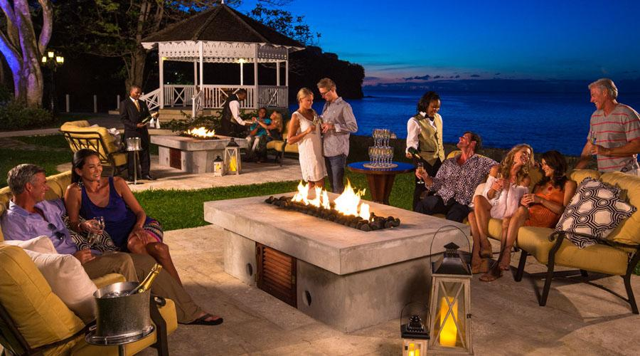 firepits and seating areas