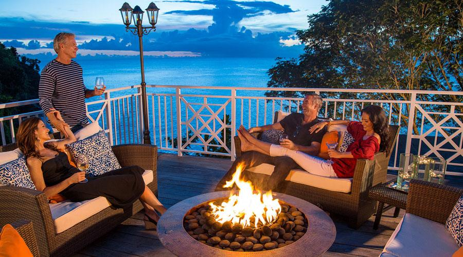 firepits on bluff-top terraces