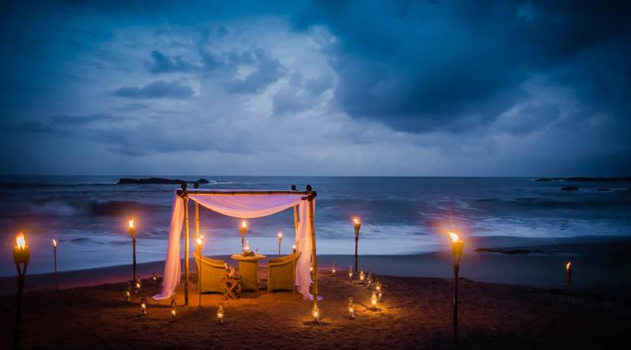 dinning by design on tangalle beach