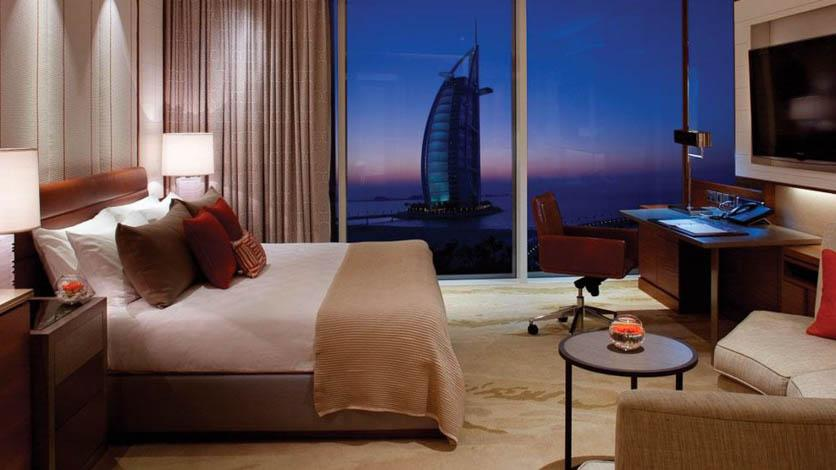 Room interior overlooking Burj Al Arab
