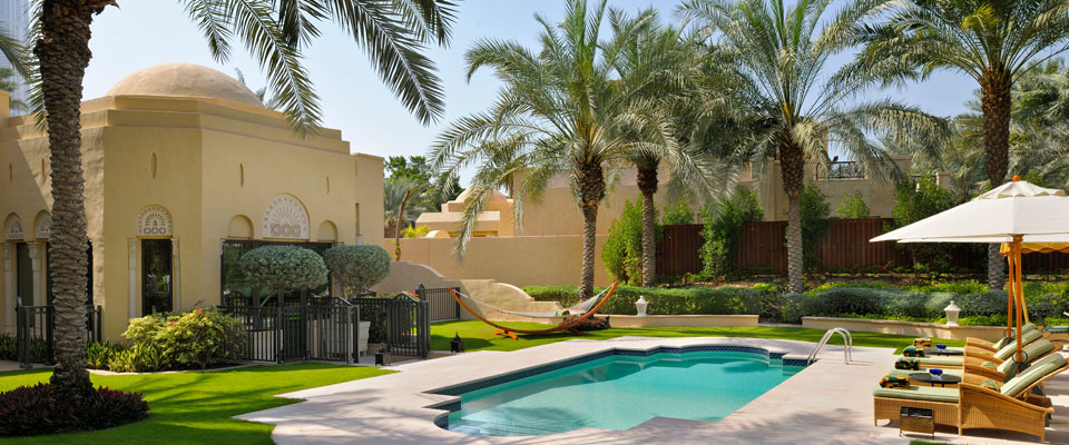 Residence spa at one only royal mirage luxury holidays for Gardens and villa